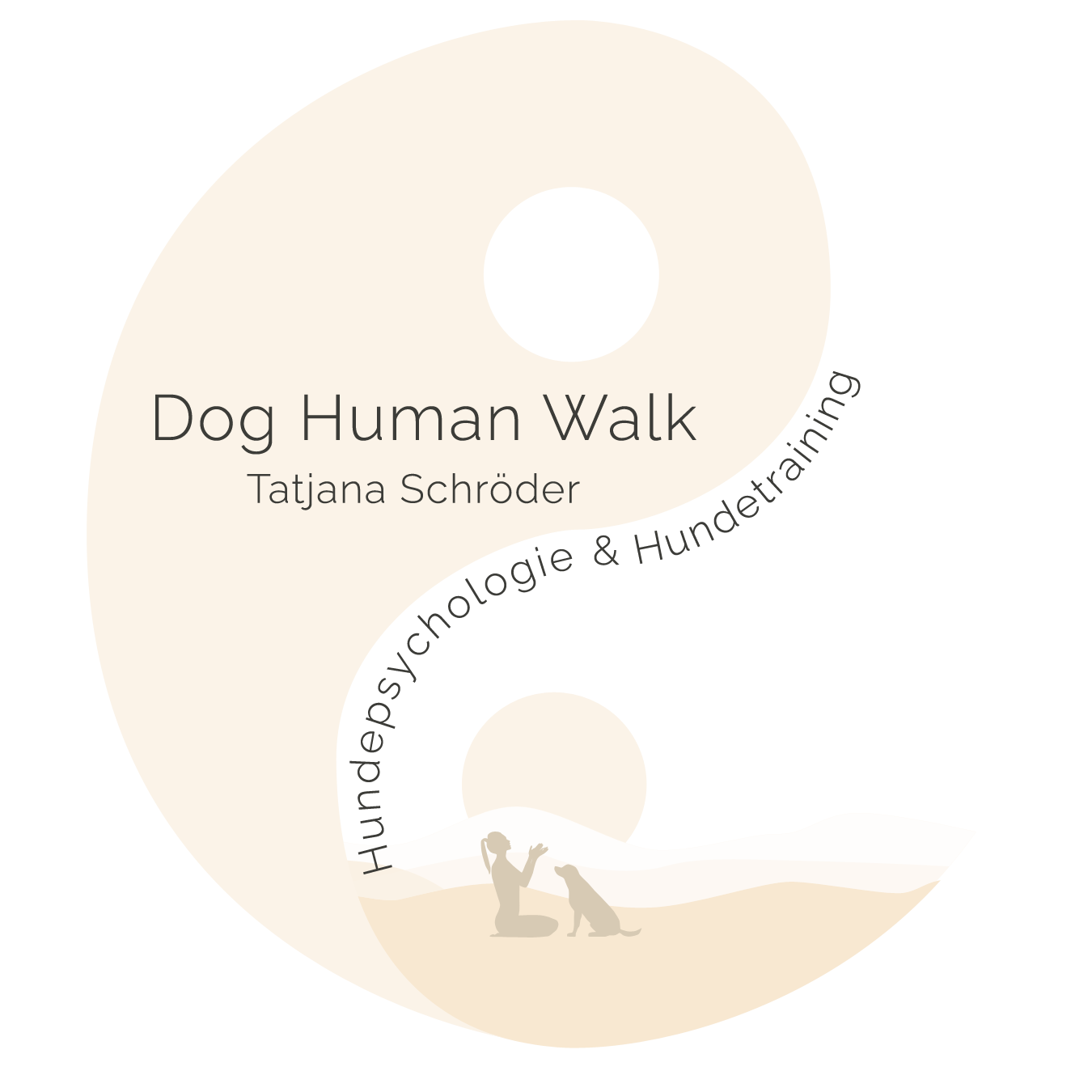 Dog Human Walk Logo Hundeschule Hundepsychologie Hundeverhaltensberatung Bitburg Trier Wittlich